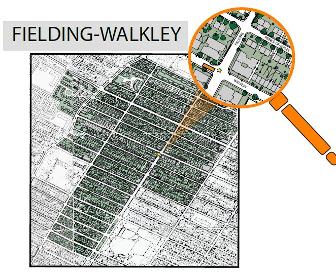 NDG sector Fielding - Walkley map