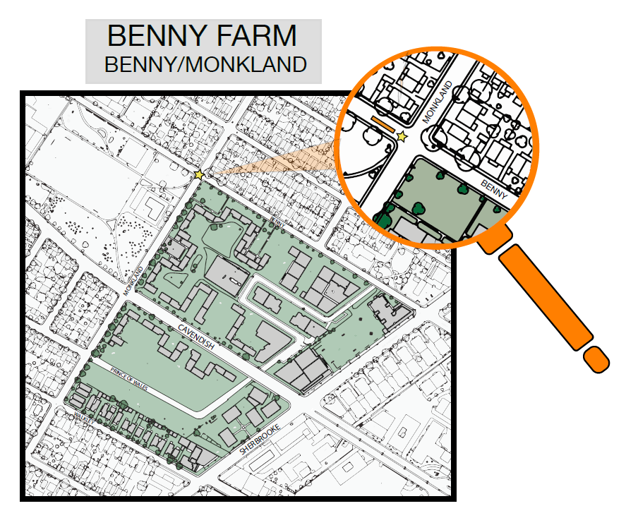 NDG sector Benny Farm map